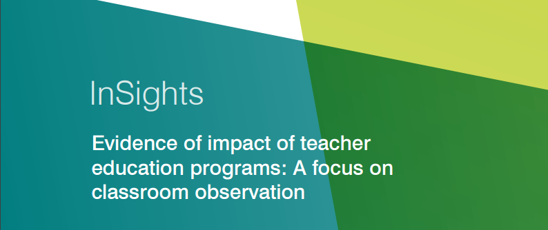 Evidence of impact of teacher education programs: A focus on classroom observation