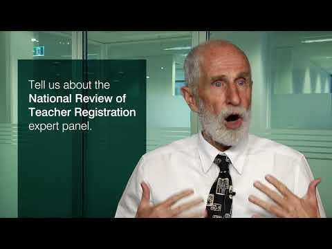 Tell us about the National Review of Teacher Registration expert panel.