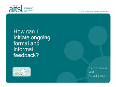 Ongoing formal and informal feedback
