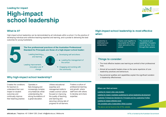 High-impact school leadership