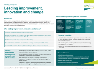 Leading improvement innovation and change