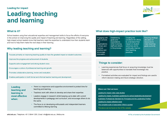 Leading teaching and learning