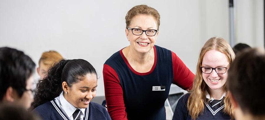 photograph of teacher